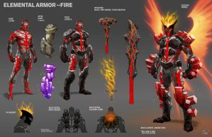 Elemental Armor--FIRE by pixelsaurus