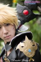 FF XIV Black Mage cosplay close-up by LockeLocky