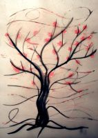 A Tree and Wind by icoman