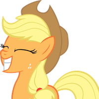 Applejack Grin by MoongazePonies