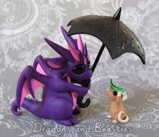 Sculptober: Rain by DragonsAndBeasties