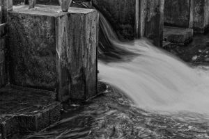 Closeup of a Small Dam on Silver Lake Channel by starfire777