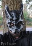 Granite Leather Beta Wolf Mask by Epic-Leather