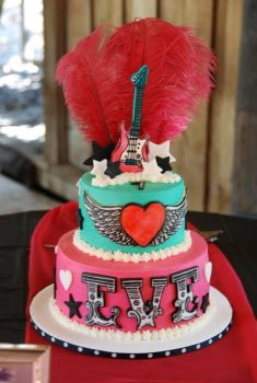 Rock Star Birthday Cake by TracyTee