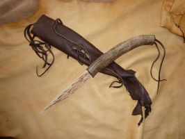 Stag Hunting Knife 1 by lupagreenwolf