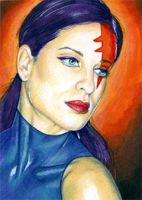 Psylocke Sketch Card 12 by veripwolf