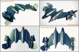 Decomissioned navy space courier by Scifiwarships