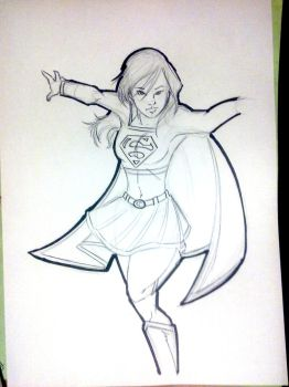 Supergirl Quickie by G-Eddy