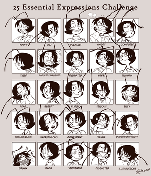 Expression sheet - Andrea by OwlyGem