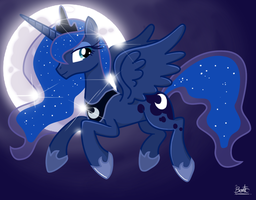 Luna moon by bentomilk