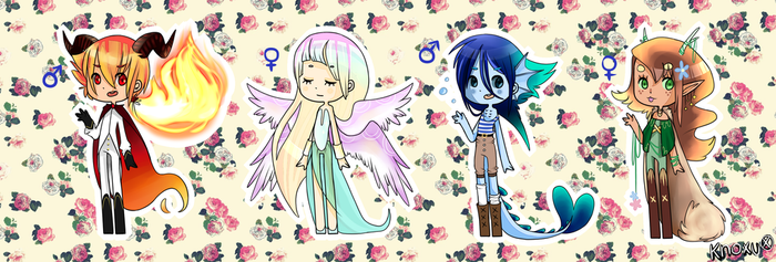 Elemental Adopts :CLOSED: by Knoxu-Draws-Butts