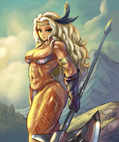 Dragon Crown Amazon by cutesexyrobutts