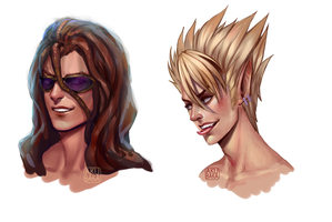 Agon and Hiruma by AkubakaArts