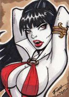 Vampirella Sketch Card by PatrickFinch