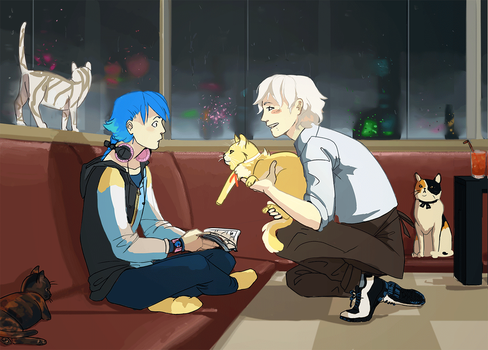 Dmmd - Cat cafes by Sayuri1314