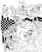 Amy rose Doodles by ShadeHellsing