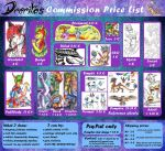 Drerika's Commission Price List by Drerika