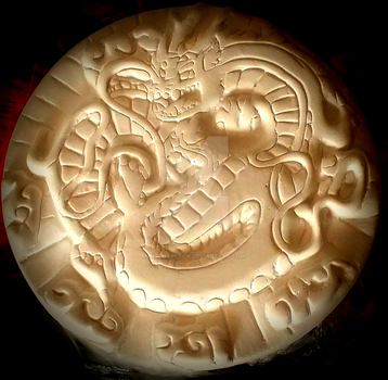 Plaster Chinese Dragon Stepping Stone by MsChapstick