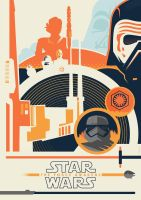 Star Wars: The Force Awakens Poster Spy Entry by Jurassickevin