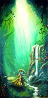 Beauty and the Beast...in the forest :) by WormholePaintings