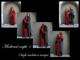 Medieval couple 1 stock pack by Mithgariel-stock