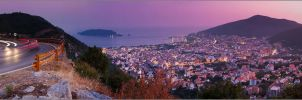 Budva. Panoramic view by YuppiDu