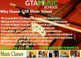 Music Lessons and Classes Mississauga by gtamusicschool