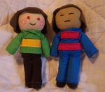 Chara and Frisk by SilverStarSheep