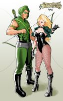 Green Arrow And Black Canary by RisQ55