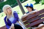 Dipper and Pacifica   I by Wings-chan
