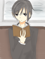 melancholy of the literary boy by Himarii-tan