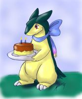 Birthday Typhlosion by nepryne