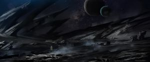 Frontier planet/Black planet by AlbyU