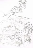 SKETCH REQUESTS  Twinkle Star and Will by sixteen6stars