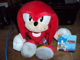 Knuckles Plushie by DazzyDrawing