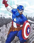 Captain America Leads the Charge by TonyMiello