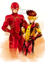 TheFlash and  KidFlash by onlyfuge