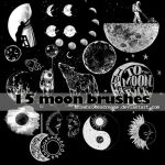 15 moon brushes by MissBrokenDreams