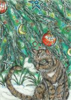 Yule Tree (ACEO) by Keyshe54
