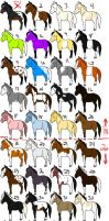 SUPER Cheap Horse Adopts by SnoHeartsMay