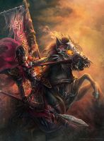 Horse warrior by Montjart