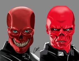 red skull by jorgecopo