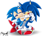 Classic and Modern Sonic 2 by Amy-Oh