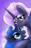 MLP FIM - NSFW OC Princess Night Glow And Luna by Joakaha