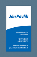 Jan Pavlik bussiness card by whitwa