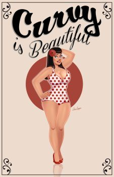 Curvy is Beautiful Pinup by TheCosbinator
