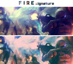 FIRE signature by NewX4