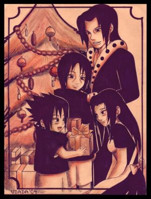 Blagues et Histoires droles. - Page 2 _Uchiha_Family_s_Christmas__by_Red_Priest_Usada