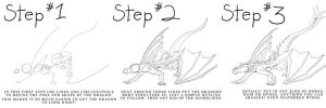 A Dragon in 3 Steps by Meerin