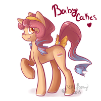 New MLP Oc Baby Cakes by BlueKazenate